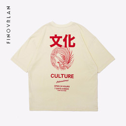 chinese print t shirts Promo Codes - 2018 new Ripped Hip Hop Oversize T shirt Stree twear Mens Chinese character T Shirt culture Print T-Shirt Short Sleeve Cotton