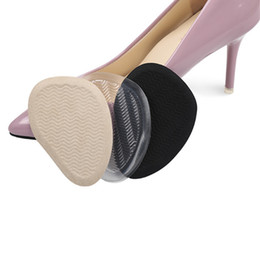 Wholesale Sandals For Plastic - Corrugated Forefoot Pad half yard pad Grinding feet stickers Non-slip Soft brioche invisiable insole for women high heels peep-toe sandals