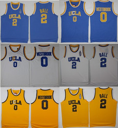 Wholesale Ucla Bruins - Men UCLA Bruins 2 Lonzo Ball Jersey 0 Russell Westbrook Jersey 100% Stitched Jerseys Cheap College mixed Order