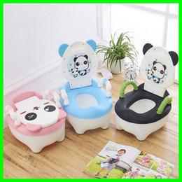 Wholesale Portable Toilet Seats - Plastic Children's Pot Lovely Panda Design Baby Toilet Training Boy Girls Unisex Child Toilet Seat Portable Baby Children's Potty
