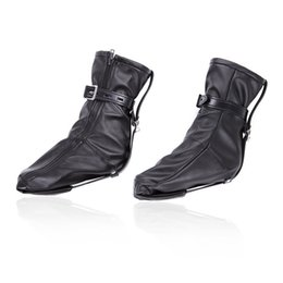 2020 stivali in pelle bdsm BDSM Bondage Foot Restraints Boots Torture Device Trainer Ecopelle Fetish Fantastic Footwear Giocattoli adulti per donne stivali in pelle bdsm economici