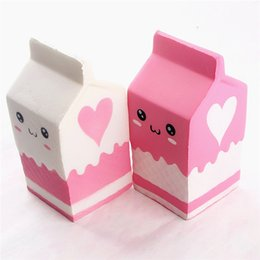 Wholesale Milk Bottle Toy - squishy milk bottle can box eric squeeze squishy slow rising jumbo Cell Phone Key chain Strap Pendant roll Squishes PU cute toys