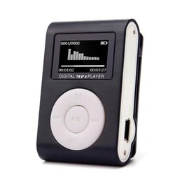 Wholesale Mini Clips Music - High Quality mini Clip MP3 Player Support 32GB Micro TF SD Card Slot Sports MP3 Music Player With Screen Portable Gife
