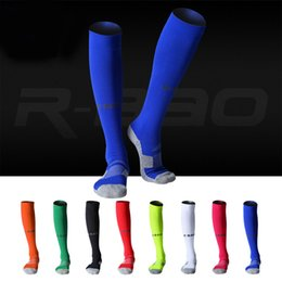 blue football socks Canada - Compression Socks Adult Sole Soccer Stocking High-quality Protect Ankle and Calf Football Socks For Men Support FBA Drop Shipping H105S