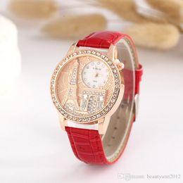a5212b617a4 2019 pequenos relógios simples Luxo Preto Vermelho Marrom Mulheres Relógio  de Quartzo Simples Pequeno Rodada Dial