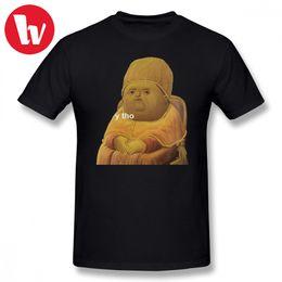 Stupid T Shirt Y Tho Cartoon Stampa T-Shirt Uomo Estate Casual Tee Shirt Uomo 100 Cotone T-Shirt Uomo all'ingrosso T-Shirt Plus Size da