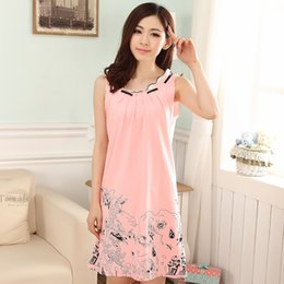 plus size short nightgowns 2019 - Summer dress short-sleeved women  nightgown modal lace casual a082625be153