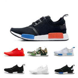 Wholesale Cheap White Lace Shoes - Cheap 2018 triple 10 Colour NMD R1 classic Running Sneakers Fashion Running Shoes NMD Running shoes Sneakers size eur 36-45