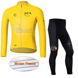 TOUR DE FRANCE Cycling Winter Thermal Fleece jersey (bib) pants sets Fleece  Jersey Men s Mountain Bike Hot Sale Bikes Clothes c1919 4ce194b3d