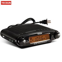 Wholesale Mp3 Player Alarm Clock Radio - TECSUN MP-300 Radio FM Stereo DSP Radio USB MP3 Player Desktop Clock ATS Alarm Portable Receiver Y4137A High Quality