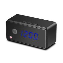 Wholesale Time Clocks Wifi - WIFI Camera Hidden Alarm Clock Camcorder Mini dv Spy table Clock Camera Nanny Cam Video Recorder Remote Control by APP Real-time Viewing