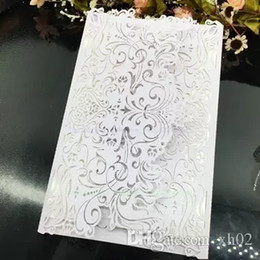 Amostra de cartão de convite de casamento de