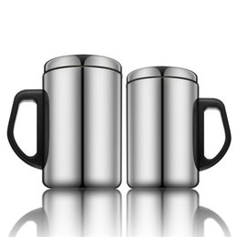 office coffee cups. Cheap Office Flask Mugs ! 350ml 500ml Stainless Steel Tumbler Cups Beer Milk Coffee Tea Insulated Thermos With Handle Lid L