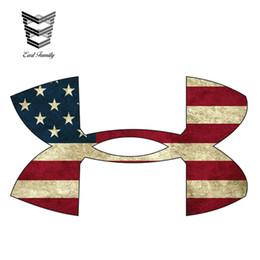 vinyl für auto aufkleber materialien Rabatt EARLFAMILY 13 cm x 7,6 cm Amerikanische Flagge Medium Vinyl Aufkleber Auto Styling Wasserdicht Aufkleber Motor Auto Zubehör