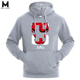 Wholesale Trend Hoodie - 2018 Brand New Men Hoodies Sweatshirt Solid Color Print Trend Cotton Pullover Coat Mens Clothes Hip-Hop Male Factory Outlet