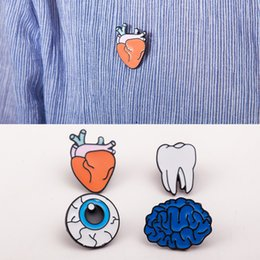 Wholesale Teeth Brooches - Our color drip human organ brooch brooch brooch accessories wholesale brain eye teeth