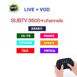 3/6/12 mois Abonnement 3500 VIP gratuit Chaînes HD Europe Arabe Français Brésil Suède Sous-IP Compte IPTV Work-on Android Mag250 TV Box ? partir de fabricateur
