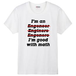 SOY UN INGENIERO Estoy bien con la ropa de la pareja de matemáticas hombre  camiseta de algodón ZIIART f071385b97a