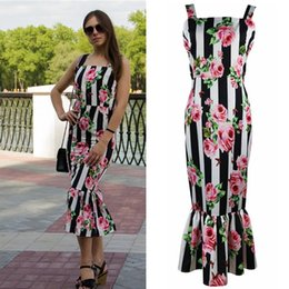 Wholesale ladies club dresses - Retro Printed Floral Tube Dress for Women Summer Fashion Ruffles 2018 Lady Slim Fit Tight Bodycon Night Out Pencil Tank Dresses