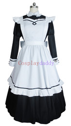Cosplay costume maid japonês on-line-Roupa de Anime japonesa Cosplay Classical Girl Maid Dress Costume