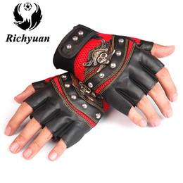 gants d'entraînement en plein air Promotion Richyuan Fitness Demi-Doigts Formation Haltérophilie Musculation Gants de Gymnase Sports de Plein Air Débarrassant