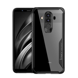 Wholesale Case Mates - Wholesale iPaky Huawei Mate 10 Pro Case Transparent Back Cover Mate10 Pro PC+TPU Hard Soft Cases Drop-proof With Retail Package In Stock