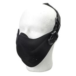 Schutzmaske militär online-Outdoor Jagd Schutz Half Face Mask Taktische Radfahren Atmungsaktive Gesichtsschutz Military Detective Sicherheit Leichte Schutzausrüstung