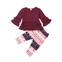 29f0f58fd5f9 Pudcoco Toddler Kids Baby Girls Flower Ruffle Tops T-Shirt Blouse Pants  Leggings Cotton Outfits Clothes Children Clothing Set