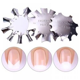 Wholesale french manicure nail art - Nail Art Manicure Edge Trimmer Nail Cutter Clipper French Smile Line Nail Tools BF004A BF004B BF004C