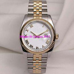 "Wholesale yellow sapphire bracelet - men Luxury High qualit Watch 36MM 116233 18K Yellow Gold Stainless Steel bracelet Sapphire glass Roman white dial Automatic men""s Watch"