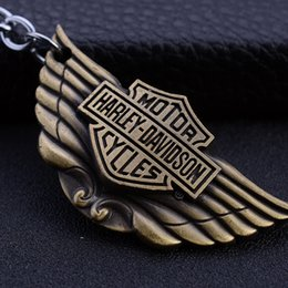 Wholesale Wholesale Metal Trinket - Wholesale Metal Keychain, Eagle Motorcycle Metal Keychain, Creative Gifts Car Pendant Trinket, Retro Alloy, Free Shipping