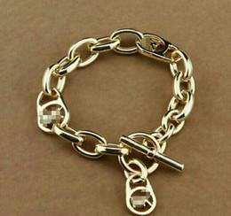 Série u on-line-Nova série M selvagem rose gold insert prata em forma de U liga pulseira da marca jfj