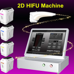 Wholesale Pimples Treatment - 2d hifu Best gift! portable beauty equipment face lift pimple scars treatment microcurrent skin lifting machine free shipment