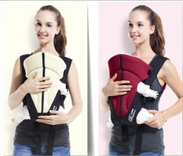 Wholesale front backpack - Multifunctional Baby Carrier Portable Ventilate Adjustable Buckle Stick Baby Carriers Backpacks Comfortable Front Facing Carrier