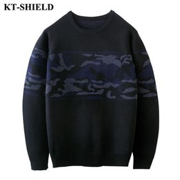 Wholesale Patterned Knitwear - 2017 Winter Brand Men Sweater Printed Pattern Knitwear Pullover Slim fit Casual Men Sweater Pull Homme Thick O-Neck Pullover