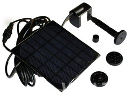 Wholesale Solar Power Fountain Water Pump - 1pc lot Solar Panel Power Submersible Fountain Pond Water Pump