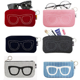 06f6ecf75ebb 2018 Colorful Sunglasses Case For Women Men Glasses Box Felt Sunglasses Bag  Eyeglasses cases For Men Eyewear Accessories