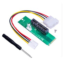 Wholesale High Voltage Adapter - High quality M.2 NGFF to PCI-E X4 X1 Slot Riser Card Adapter PCIE Converter with led Voltage indicator for Bitcoin mining OTH818
