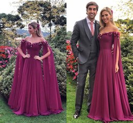 2018 Special Design Sheer Illusion Neck Grape Evening Dresses With 3D  Floral Appliqued Floor Length Long Sleeves Elegant Prom Party Gowns 7073ff33f713
