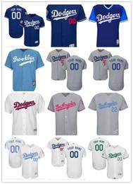 Argentina Custom Men Women Youth Majestic Los Angeles Dodgers Jersey Nombre y número personalizados Azul Gris Blanco Niños Niñas Jerseys de béisbol cheap xl girls white Suministro