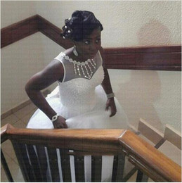 2019 zuhair murad de hombro vestido de fiesta 2019 elegantes cristales africanos con cuentas vestido de novia Scoop árabe vestidos de novia Vestido De Novia Plus Size