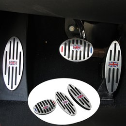 Wholesale Pedals Brake Gas - Footrest Gas Brake Clutch Pedal Cover for BMW Mini Cooper JCW S R55 R56 R60 R61 F54 F55 F56 F60 Car Accessories
