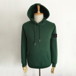 Wholesale Comfortable Cotton Hoodies - 17FW STONE IS MICRO REPS Hoodies High Quality Solid Color Candy Colors Sweatshirts Comfortable Fashion Style Sweatshirts HFLSWY054