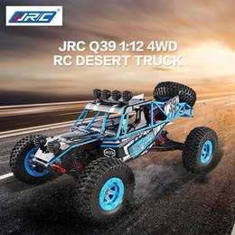 Wholesale rc car lipo - 2018 New JJRC Q39 1:12 4WD RC Desert Truck RTR 35km h+ Fast Speed 1kg High-torque Servo 7.4V 1500mAh LiPo Battery F22485
