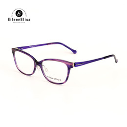 Wholesale Model Eyeglasses - EE New Model Women Glasses Frame Branded Acetate Material Myopia Glasses Frame Vintage Square Eyeglasses