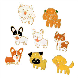 collari per cani per le donne Sconti Cartone animato smalto Pet Dog Pup Collar Lepal Pins spilla gioielli di moda per le donne uomini Drop Shipping