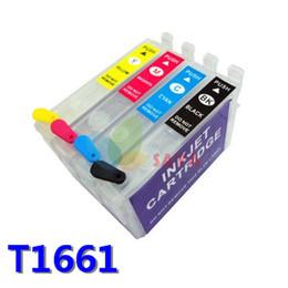VIDE Cartouche rechargeable pour epson T1661 T1662 T1663 T1664 cartouche d'encre rechargeable costume pour imprimante me101 me10 withARC puces ? partir de fabricateur