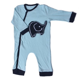 12 month boys rompers Coupons - 22-23 Inch Rompers For Boy Reborn Baby Dolls Fashion Blue Elephant Baby Clothes 55-58 cm Doll Born Accessories