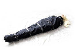 female fetish clothes Coupons - Female Full Body Bondage Restraints Mummy Bag Binder Sleep Sack Mermaid BDSM Tie Me Up Fetish Play Adult Sex Toys for Women GN302405173