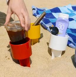 Wholesale wedding key holder - 12.2*11.7*20.5cm Plastic Beach Cup Holder for Summer Vacation Drinks Bottle iPhone Keys Holders Party Favor CCA9967 150pcs